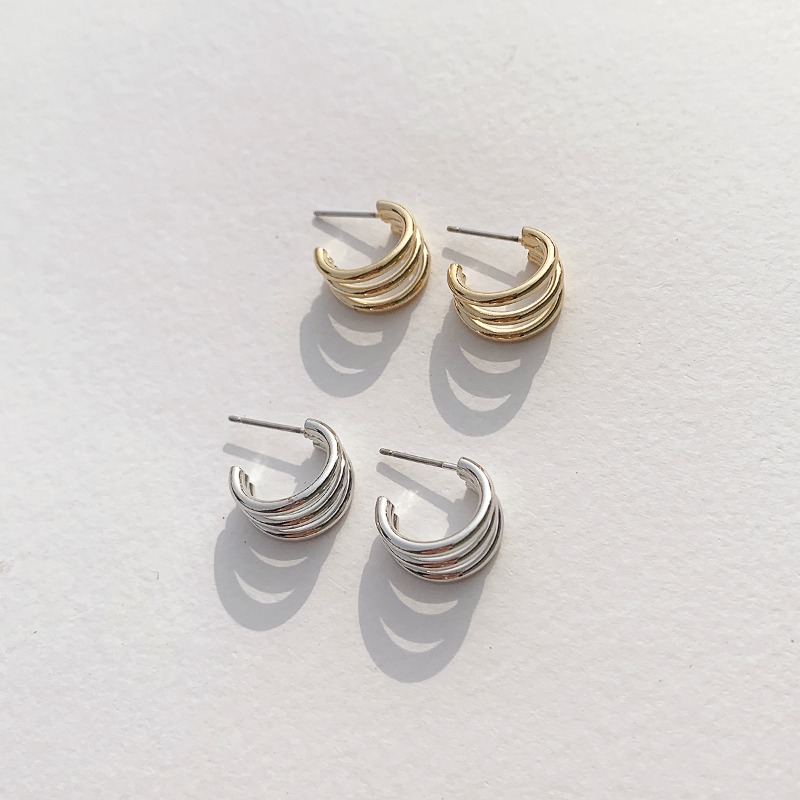 Triple Mini Ring Earring(2colors)